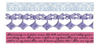 Scrapbooking  Meadow Lark Ribbon and Lace Trim Prima Marketing