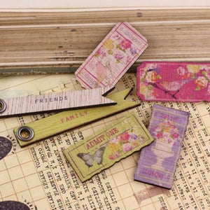 Scrapbooking  Meadow Lark Wood Tickets Prima Marketing