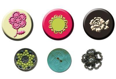 Scrapbooking  Rosarian Cabochons and Buttons Prima Marketing