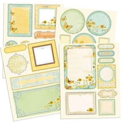 Scrapbooking  Sun Kiss Chipboard Stickers 4 sheets Prima Marketing