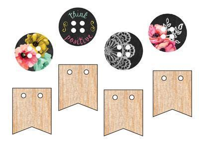 Scrapbooking  The Optimist Wood Buttons Prima Marketing