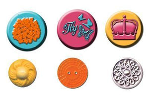 Scrapbooking  Zephyr Cabochons and Buttons Prima Marketing