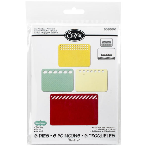 Scrapbooking  Sizzix Thinlit Dies 2pk This Way Sizzix