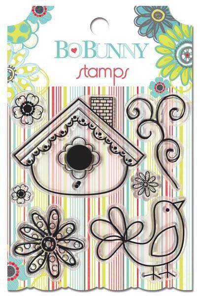 Scrapbooking  Bo Bunny Alora Clear Stamps Stamps