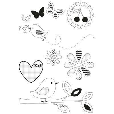 Scrapbooking  Butterfly Kisses Clear Stamps Kaisercraft