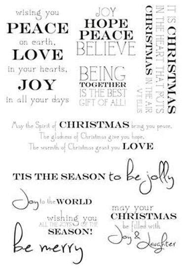 Scrapbooking  Christmas Sentiments Clear Stamp Paper Collections 12x12
