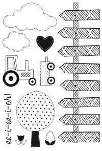 Scrapbooking  Clear Stamps Cock a Doodle Doo Stamps