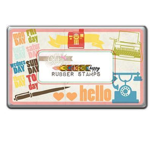 Scrapbooking  Colour Me Happy Rubber Stamps Tin Stamps