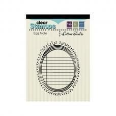 Scrapbooking  Cotton Tail Clear Stamps Egg Notes Stamps