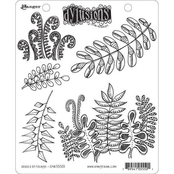 Scrapbooking  Dyan Reaveley's Dylusions Cling Stamp Collections 8.5