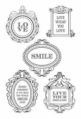 Scrapbooking  Flora Delight Clear Stamp Stamps