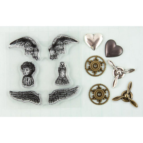 Scrapbooking  Prima Metals and Stamps Angel Wings Prima Marketing