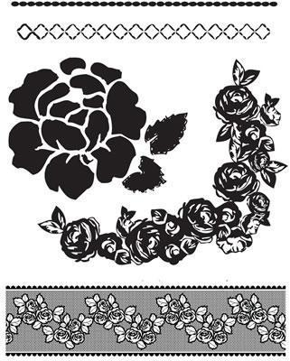 Scrapbooking  Rosarian Clear Stamp No 1 Stamps