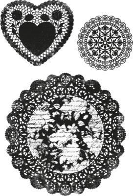 Scrapbooking  Secret Admirer Doilies Clear Stamps Stamps