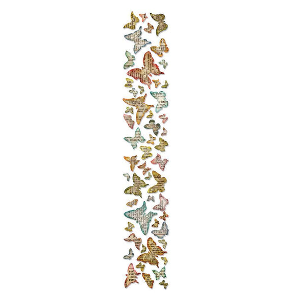 Scrapbooking  Sizzix Sizzlits Decorative Strip Butterfly Frenzy Die By Tim Holtz Tim Holtz