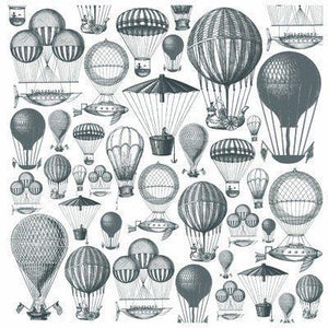 Scrapbooking  Periwinkle Acetate Hot Air Balloons Kaisercraft