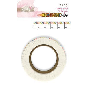 Scrapbooking  Colour Me happy Washi Tape Rainbow Stripe WASHI Tape