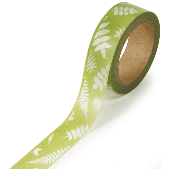 Scrapbooking  Washi Tape Green Fern WASHI Tape
