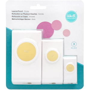 Scrapbooking  We R Memory Keepers Layering Circle Punches 3/Pkg tool