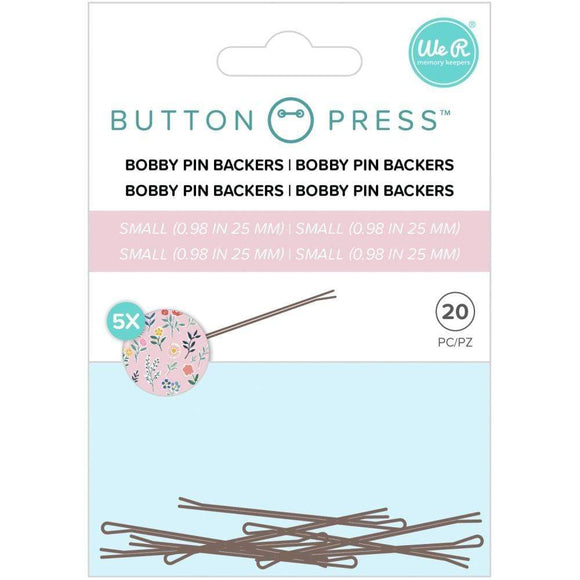 Scrapbooking  We R Memory Keepers Button Press Bobby Pin Backers Makes 5 (20pk) tool