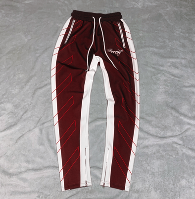 Burgundy Royalty Reign Joggers