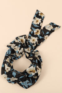 Floral Print Twisted Headband - Apollo Innovations