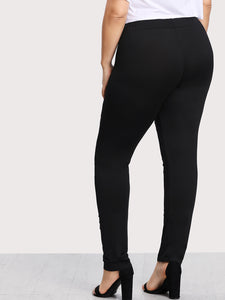 Plus Ladder Ripped Leggings - Apollo Innovations
