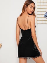 Load image into Gallery viewer, Eyelash Lace Velvet Cami Dress - Apollo Innovations