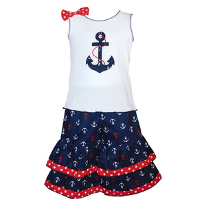 Sailor Girls Nautical Anchor Tank Top & - Apollo Innovations