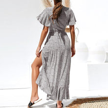Load image into Gallery viewer, 2020 Summer Dot Print Maxi Dresses Boho Style Split Long Beach Dress - Apollo Innovations