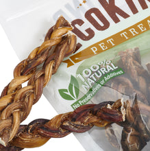 Load image into Gallery viewer, EcoKind Pet Treats - Braided Bully Sticks For Dogs - All Natural Dog - Apollo Innovations