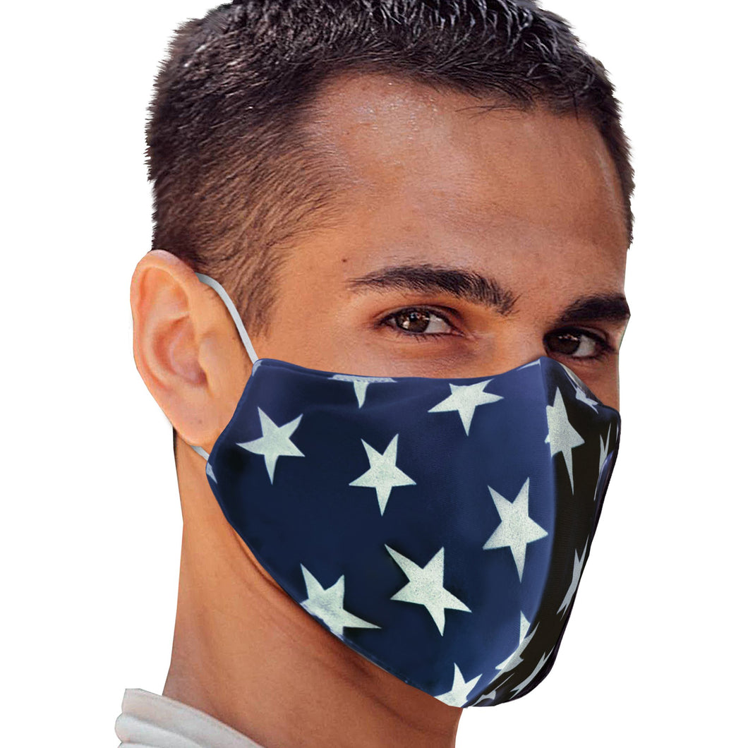White Stars Face Mask - Apollo Innovations