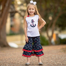 Load image into Gallery viewer, Sailor Girls Nautical Anchor Tank Top & - Apollo Innovations