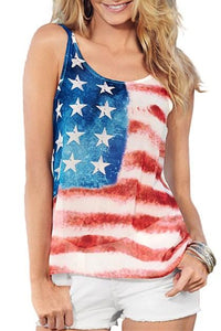 American Flag Sleeveless Tank Top - Apollo Innovations
