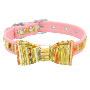 Bowknot America Dog Collar Soft Puppy Dog Cat - Apollo Innovations
