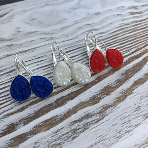 Patriotic 4th of July, Red, White + Blue Druzy - Apollo Innovations
