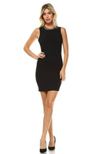 Load image into Gallery viewer, Women's Beaded Neckline Fitted Dress with Back Cut