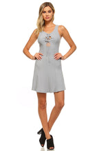 Load image into Gallery viewer, Women's Skater Tie Tank Dress - Apollo Innovations