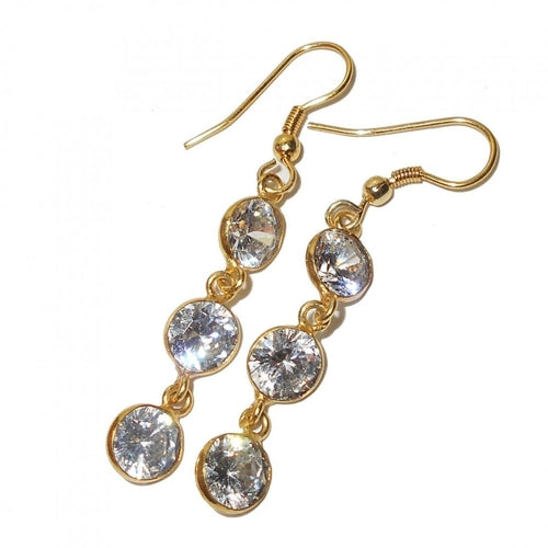 Neha White CZ Earrings