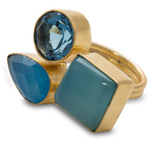 Load image into Gallery viewer, Shanti Chalcedony & Glass Ring