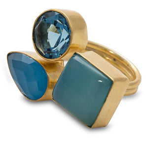 Shanti Chalcedony & Glass Ring - Apollo Innovations