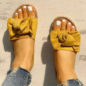 Slippers Women Summer Beach Bow Summer Sandals - Apollo Innovations