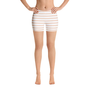 Pale Pink Striped Leggings, Capris, Shorts - Apollo Innovations