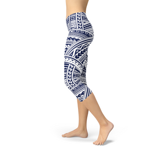 Polynesian Maori Tattoo Capri Leggings - Apollo Innovations