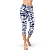 Load image into Gallery viewer, Polynesian Maori Tattoo Capri Leggings - Apollo Innovations