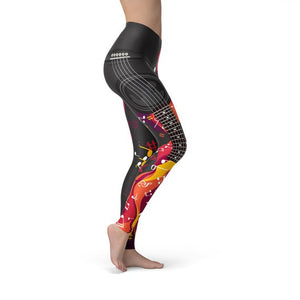 Guitar and Music Note Leggings - Apollo Innovations