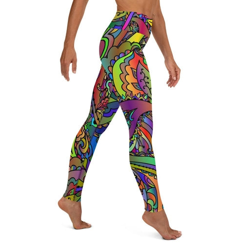 Colorful Paisley Butterfly Yoga Leggings - Apollo Innovations