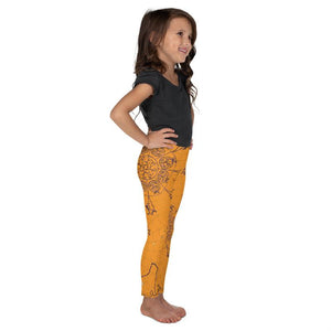 Kids Orange Mandala Leggings - Apollo Innovations