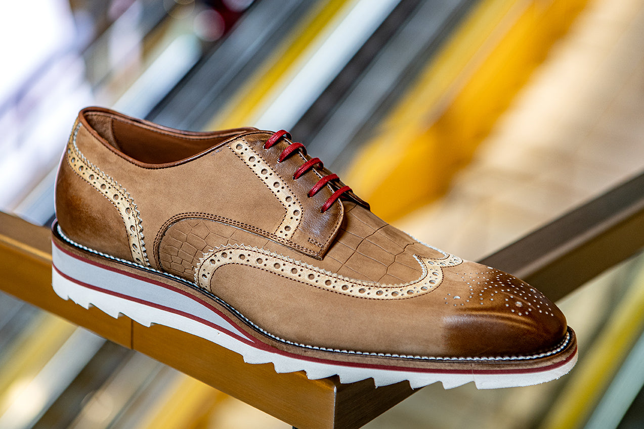 AMBERES WINGTIP CUOIO COCCO