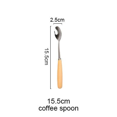 Stainless Steel Beech Wood Handled Cutlery